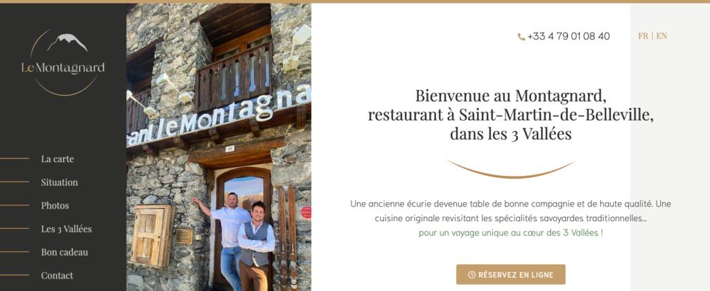 page d'accueil du site web le montagnard