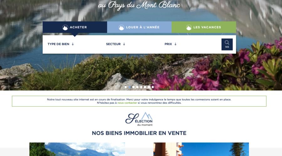 Mont Blanc Immobilier, le site web de la destination de vos rêves